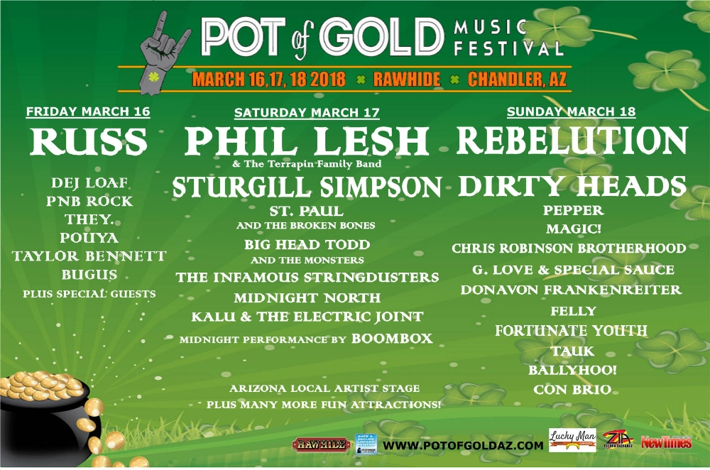 pot of gold lineup