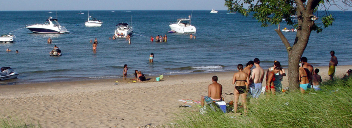 Whihala Beach & Whiting Lakefront Park in Northwest Indiana