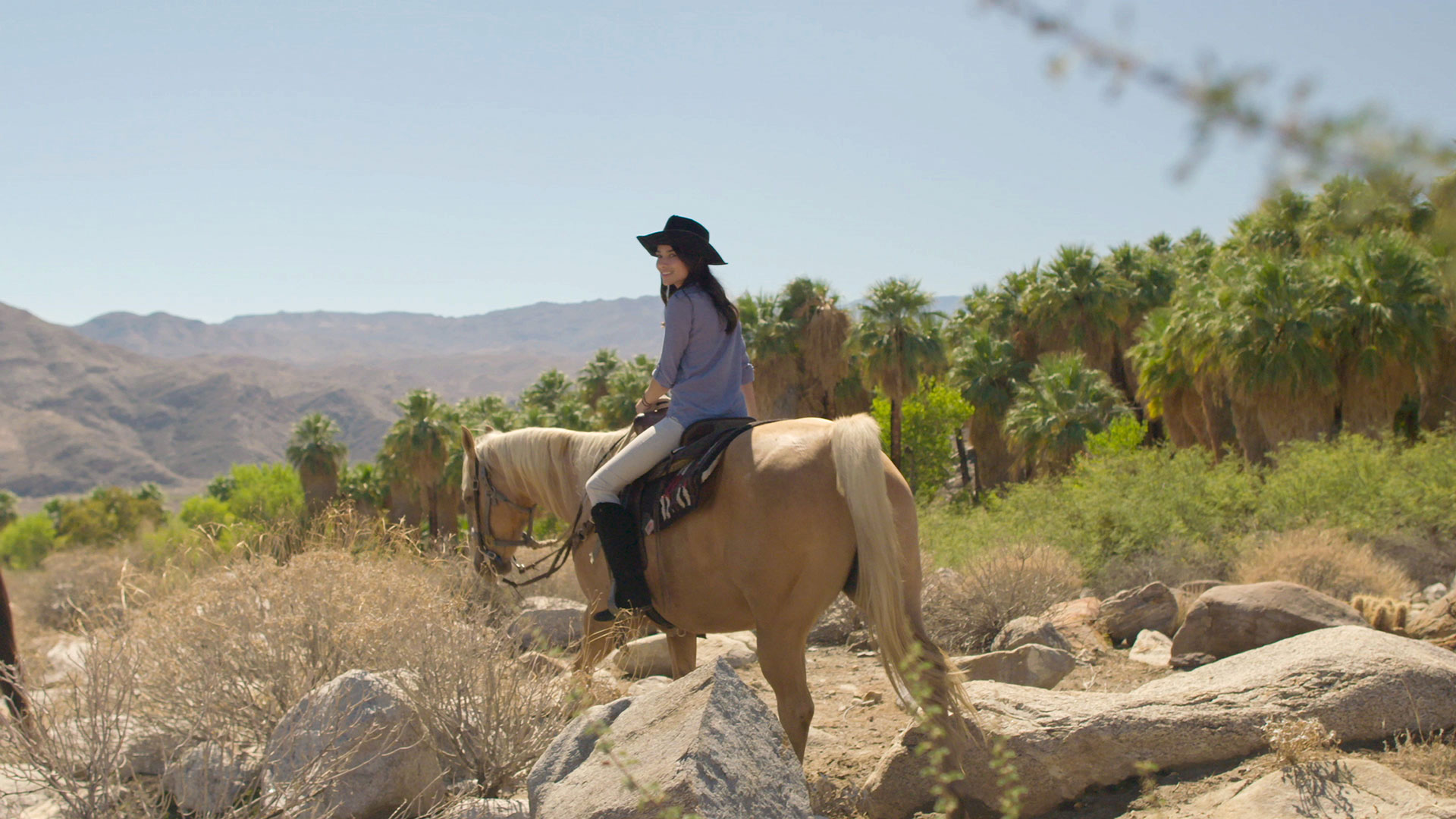 indian canyons horseback rider girl web