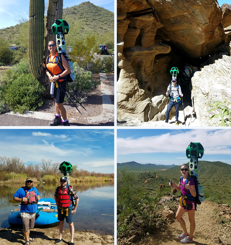 Visit Phoenix staff with Google Trekker