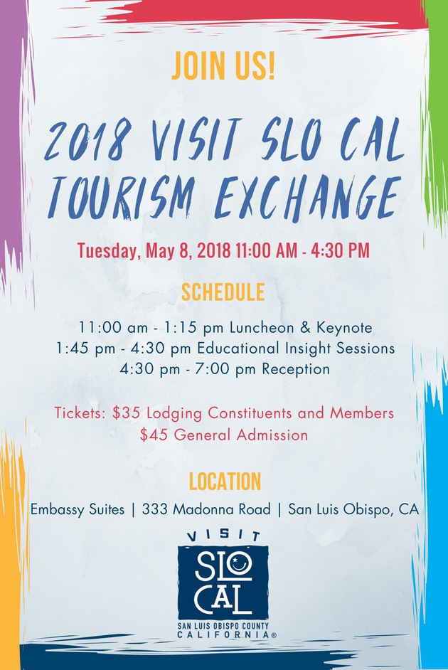 Visit SLO CAL Tourism Exchange 2018 Flyer