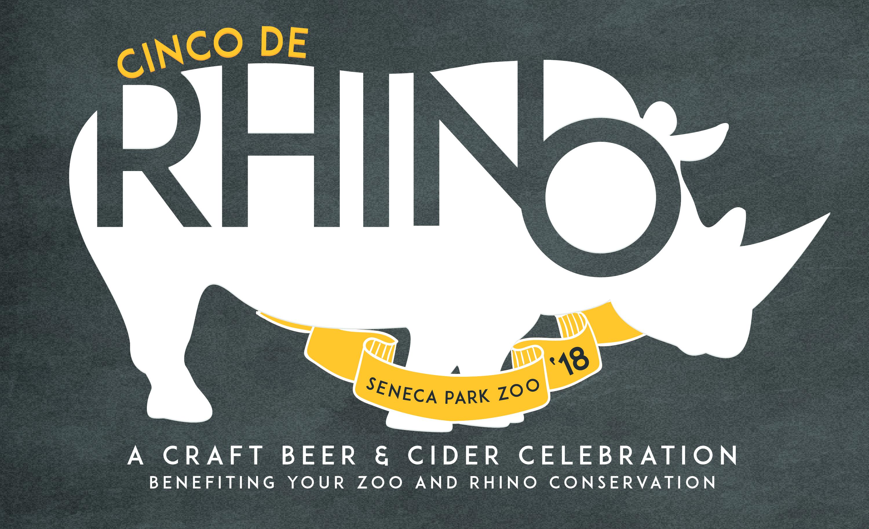 Seneca Park Zoo-Cinco de Rhino 2018 Logo