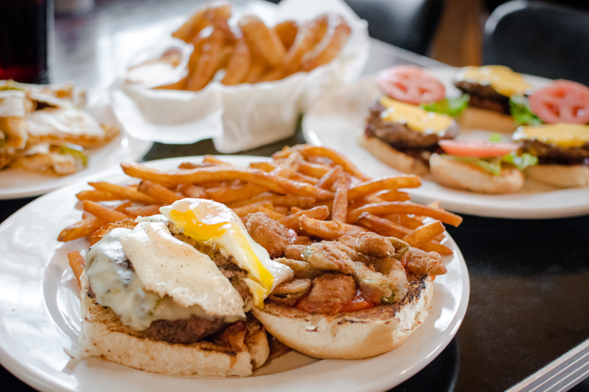 Broaddus Burger with Fried Egg