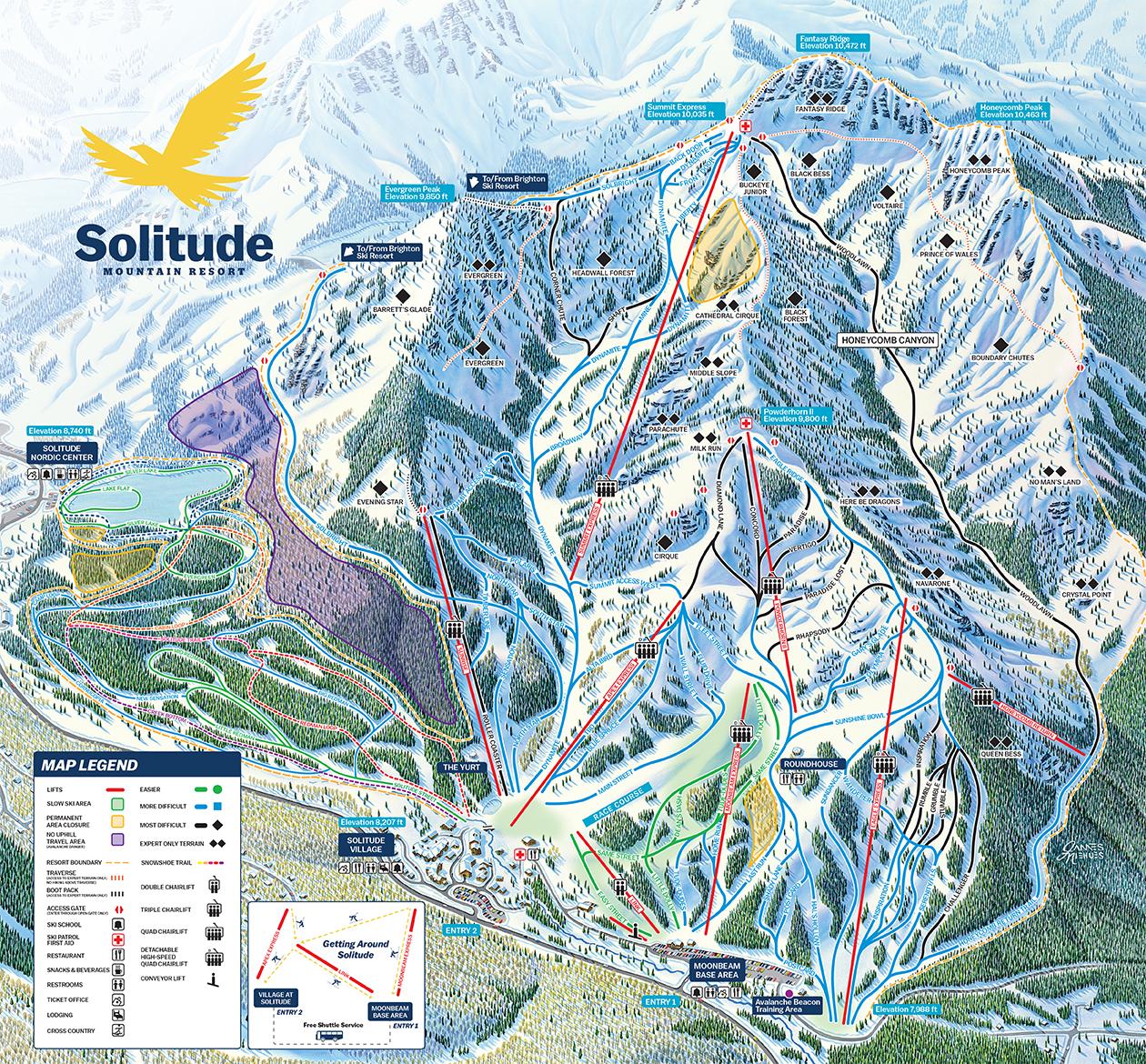 brighton ski trail maps | ski city