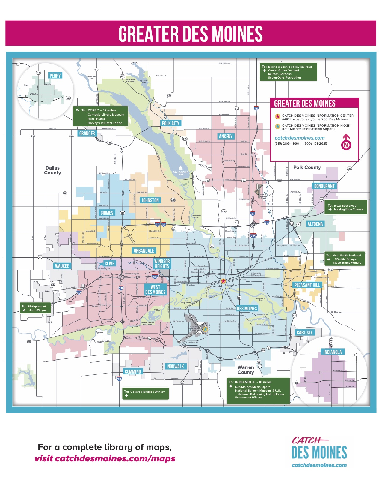Greater Des Moines Maps Downtown Surrounding Areas
