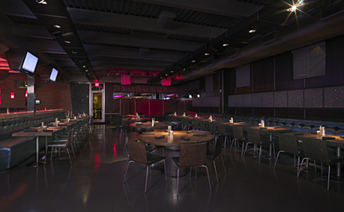 Stage Tables for Convention Seating at Luckie Food Lounge