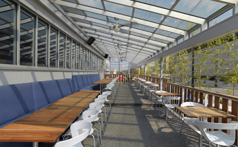 Outdoor Downtown Patio featured at Luckie Food Lounge