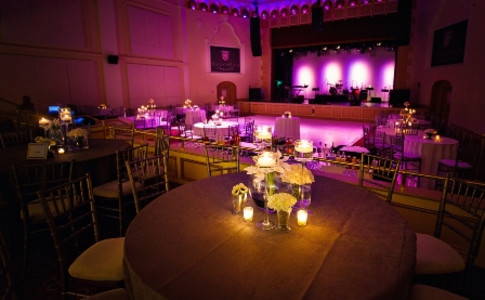 Theatre Set for Wedding Reception