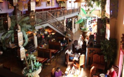 Cantina interior viewd from mezzanine.