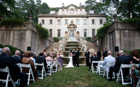 Swan House - Ceremony on Fountain Side