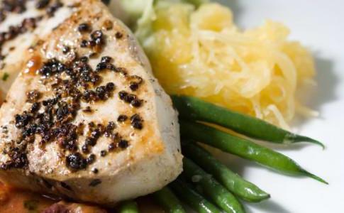 pepper crusted swordfish