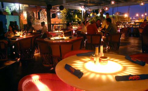 No Mas! Cantina patio at night