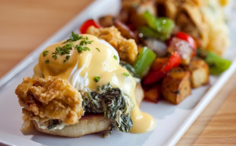 Fried Oyster Eggs Benedict 3 by Heidi Geldhauser.jpg