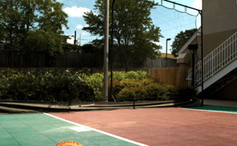 Enjoy a game of basketball or other activities with family, friends, or other residents on the Sport