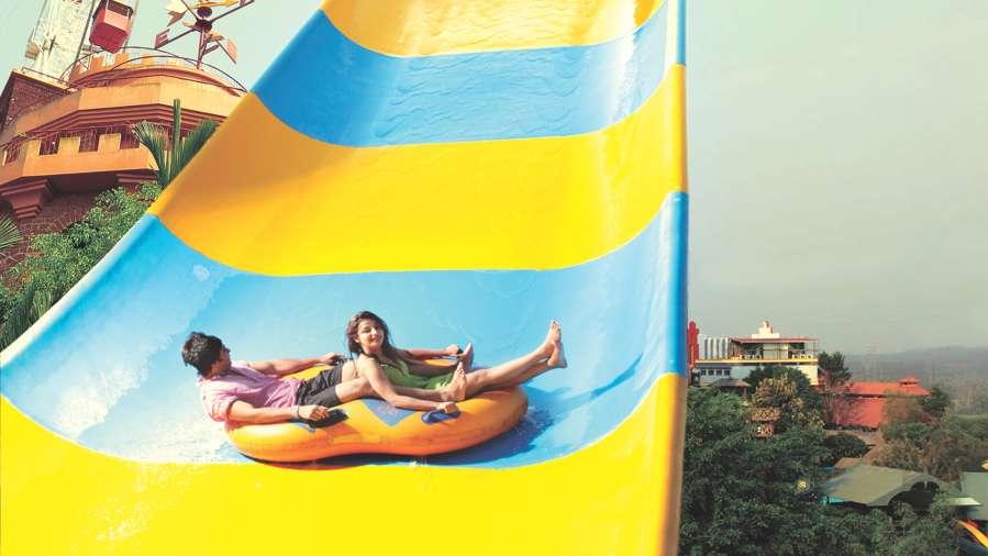 Water Rides - Boomerang at Wonderla Kochi Amusement Park