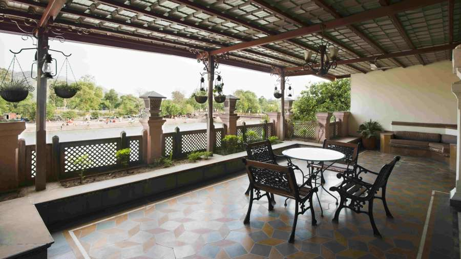 The Haveli Hari Ganga  Haridwar Sitting Area at The Haveli Hari Ganga Hotel in Haridwar