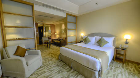 The Grand New Delhi New Delhi Business Suite at The Grand New Delhi Hotel on Nelson Mandela Road