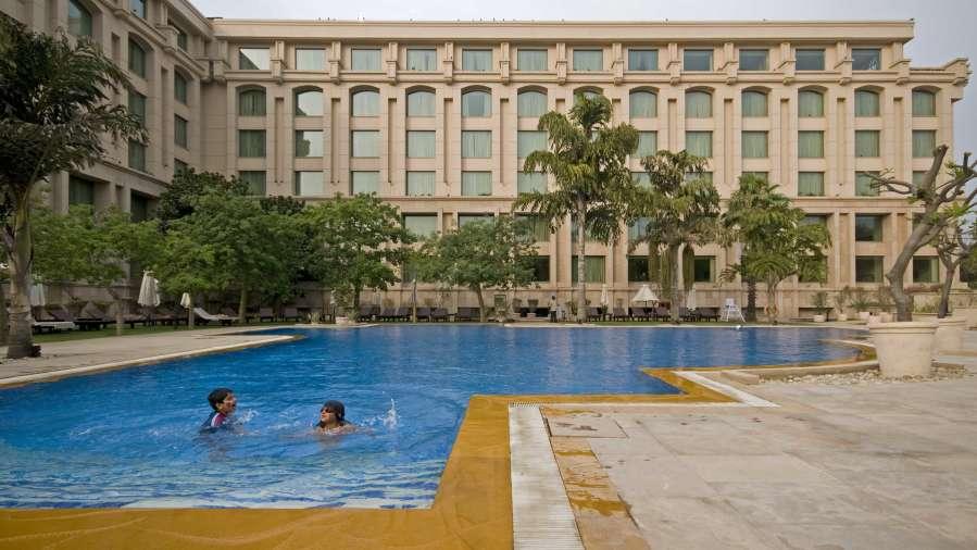 Swimming Pool The Grand New Delhi A 5 Star Luxury Hotel In New Delhi