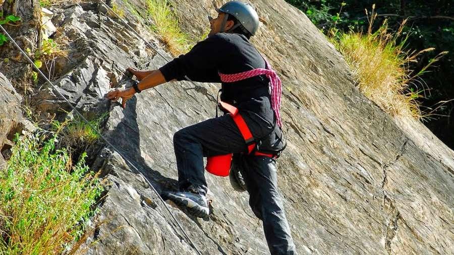 Rock Climbing in Rishikesh Rock Climbing at Aloha on The