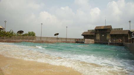 Water Rides - Wave Pool at Wonderla Kochi Amusement Park