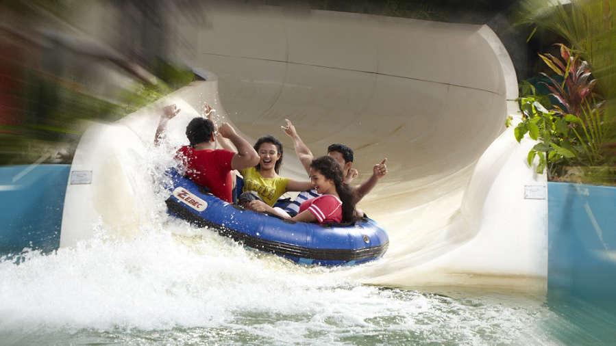 Water Rides - Family Side at Wonderla Kochi Amusement Park