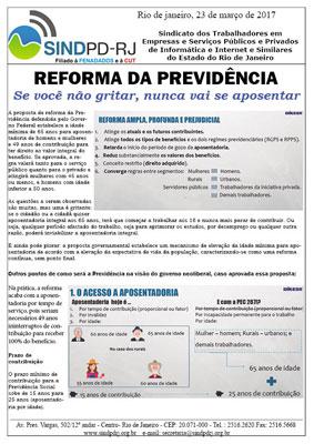 Reforma da Previdência – Se você não gritar, não vai aposentar!