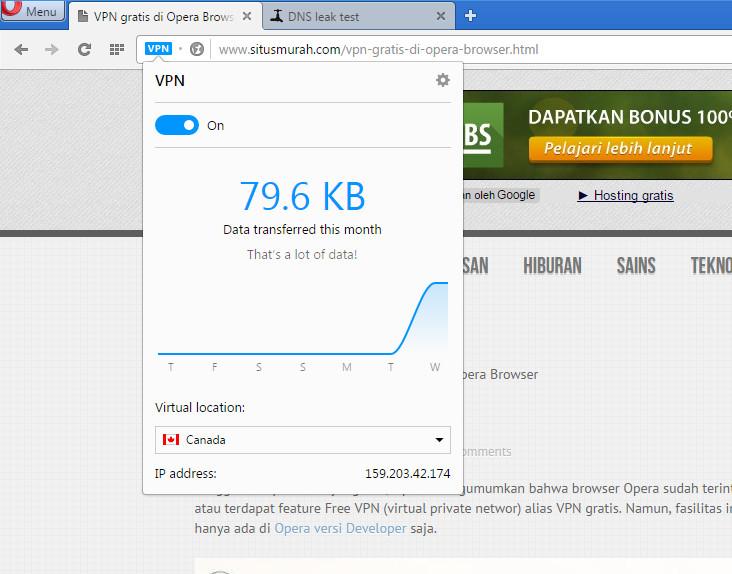 akses website menggunakan vpn gratis opera browser developer
