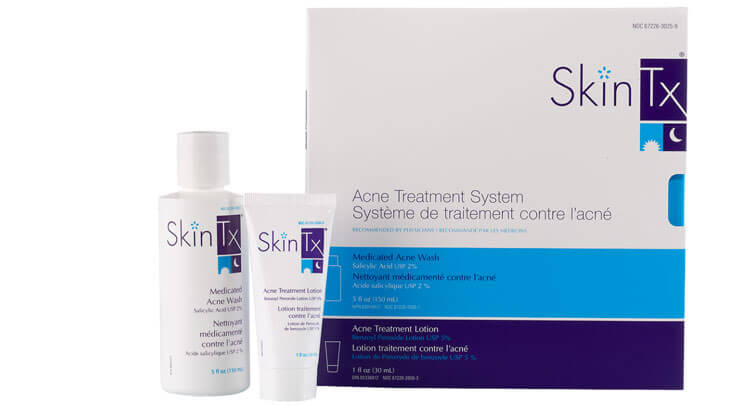 SkinTX acne treatment system to fight acne.