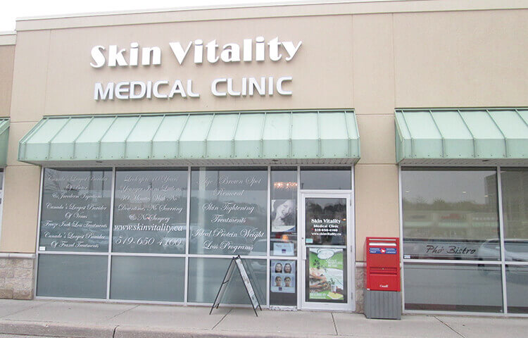 skin vitality medical clinic kitchener storefront