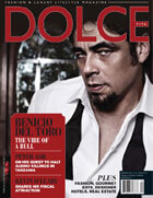 dolce magazine cover with benicio del toro