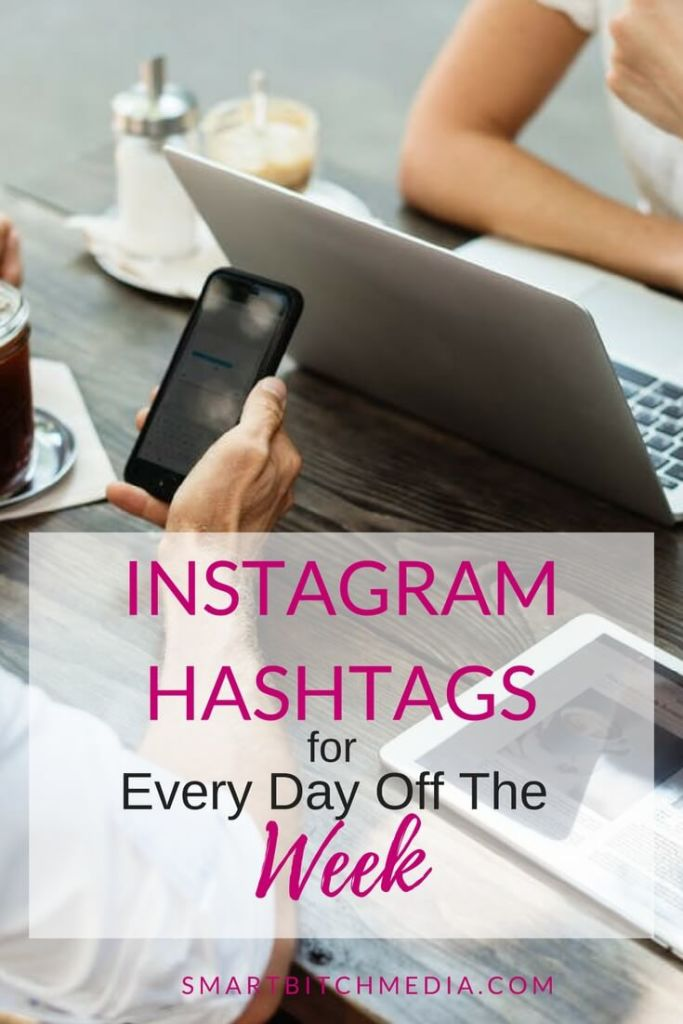 instagram hashtags for every day of the week.pinterest.1-2