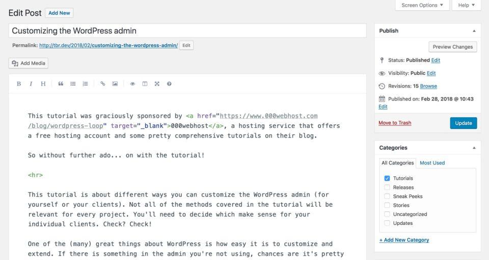 WordPress Post Editor with Markdown