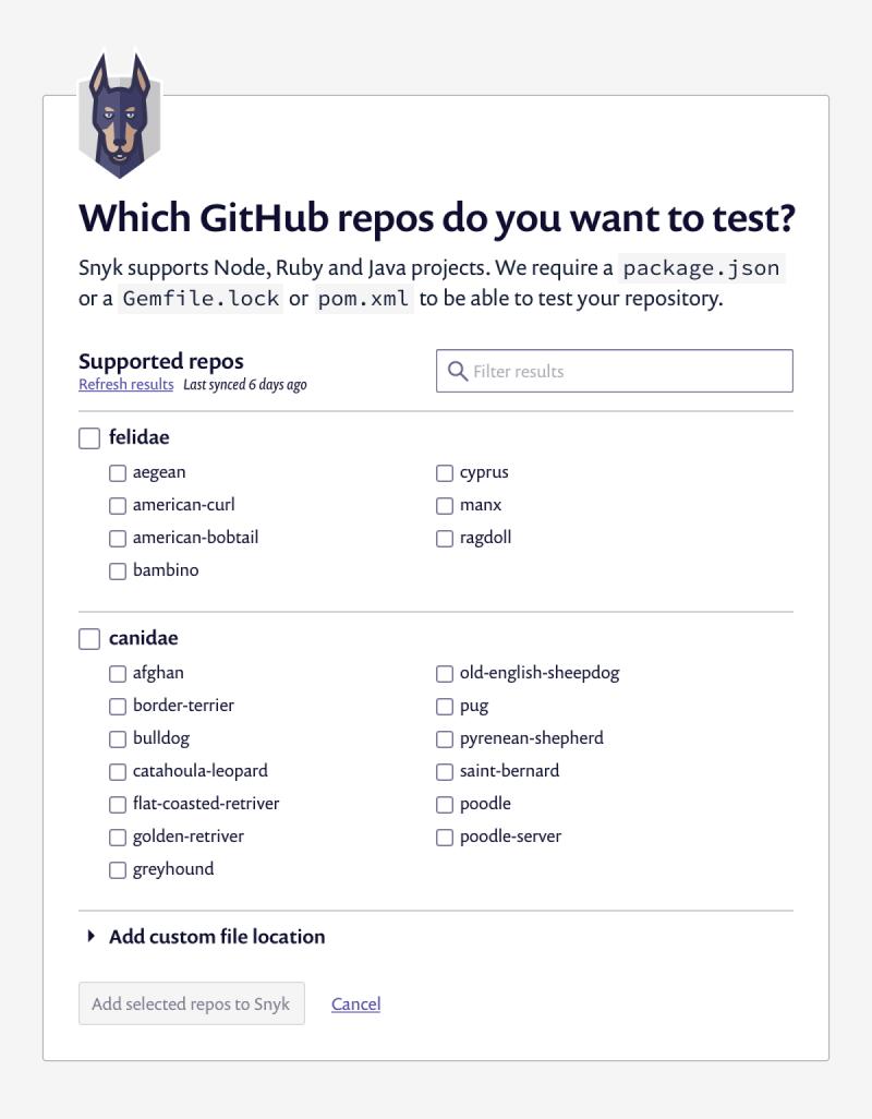 Adding your GH repos