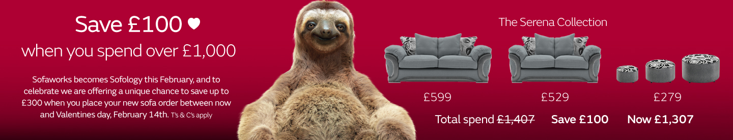 Save up to £300 with 1,2,3 Sofology