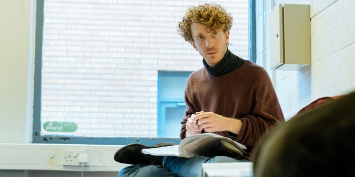 Matt Gavan (Michael Bergman/Aron Retzinsky) in rehearsal for Fanny & Alexander at The Old Vic (Photo: Manuel Harlan)