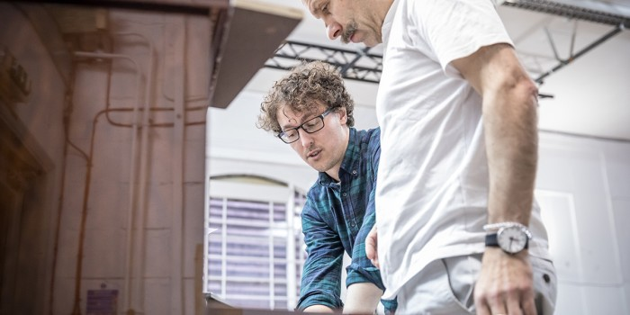 Angus MacRae (Composer) and Eric MacLennan in rehearsal for Summer And Smoke (Photo: Marc Brenner)