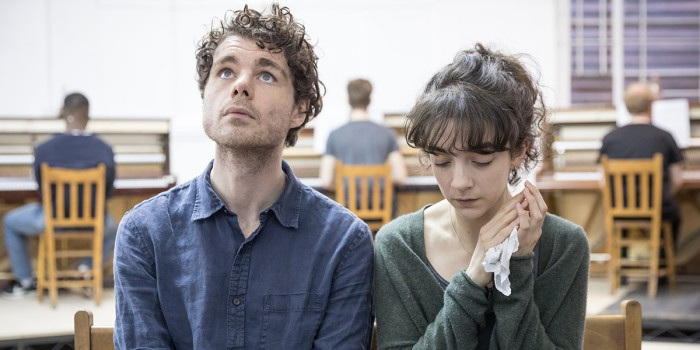 Matthew Needham and Patsy Ferran in rehearsal for Summer And Smoke (Photo: Marc Brenner)