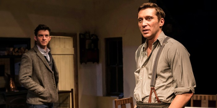 Jonathan Bailey (John) and Ben Batt (George) in The York Realist at the Donmar Warehouse (Photo: Johan Persson)