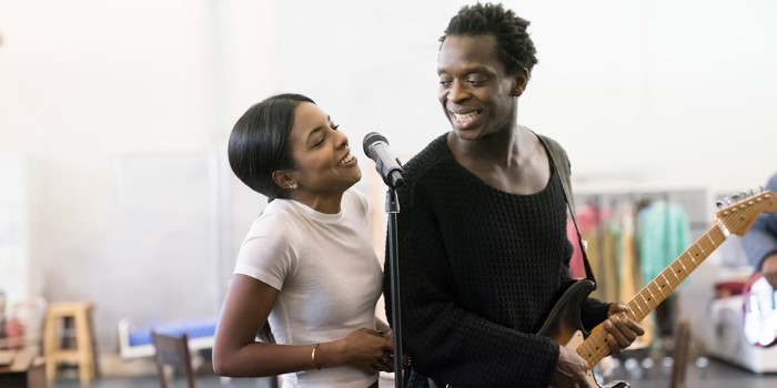 Adrienne Warren (Tina Turner) and Kobna Holdbrook-Smith (Ike Turner) in rehearsals (Photo: Johan Persson)