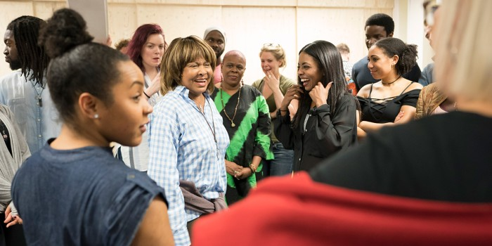 Tina Turner and Adrienne Warren (Tina) in rehearsals for Tina - The Tina Turner Musical (Photo: Johan Persson)