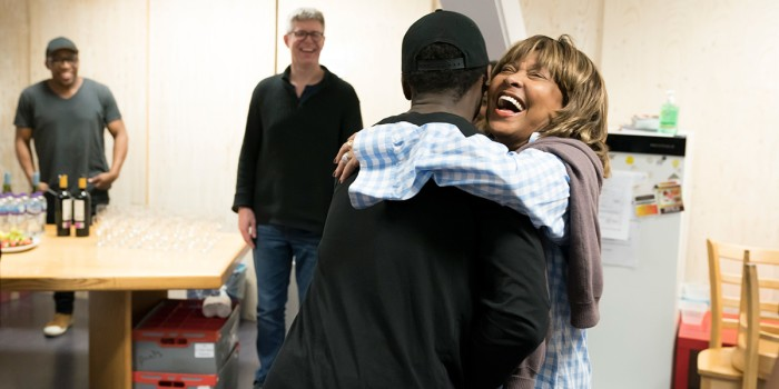 Kobna Holdbrook-Smith (Ike Turner) and Tina Turner in rehearsal for Tina - The Tina Turner Musical (photo: Johan Persson)