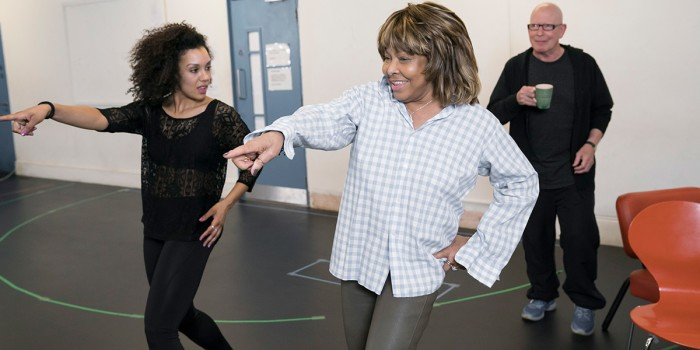 Simone Mistry-Palmer (Associate Choreographer) and Tina Turner in rehearsals for Tina - The Tina Turner Musical (Photo: Johan Persson)