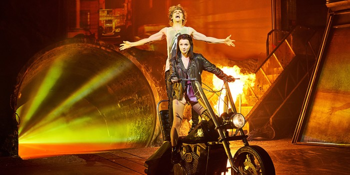 Andrew Polec and Christina Bennington in Bat Out Of Hell - The Musical (Photo: Specular)