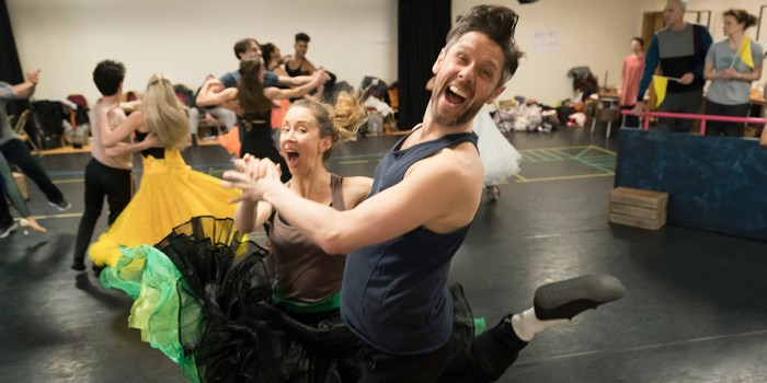The cast of Strictly Ballroom The Musical in rehearsals (Photo: Johan Persson)