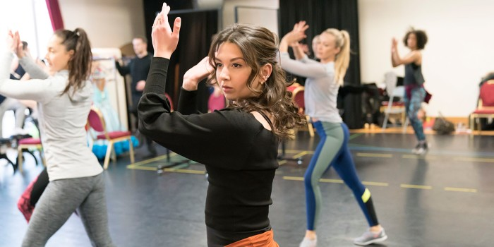 Zizi Strallen in Strictly Ballroom The Musical rehearsals (Photo: Johan Persson)