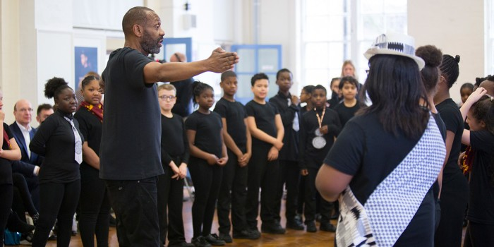 Sir Lenny Henry launches Let's Play at Hill Mead Primary School