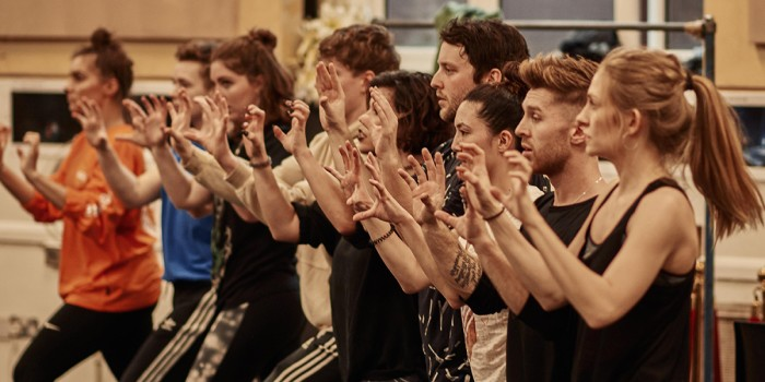 The cast of Bat Out Of Hell in rehearsals (Photo: Specular)