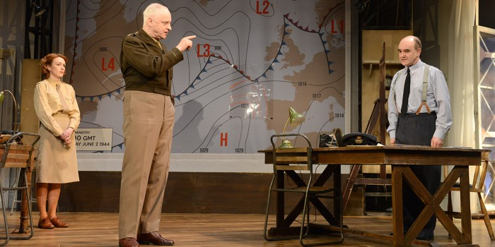 Laura Rogers, Malcolm Sinclair and David Haig in Pressure at Park Theatre (Photo: Robert Day)