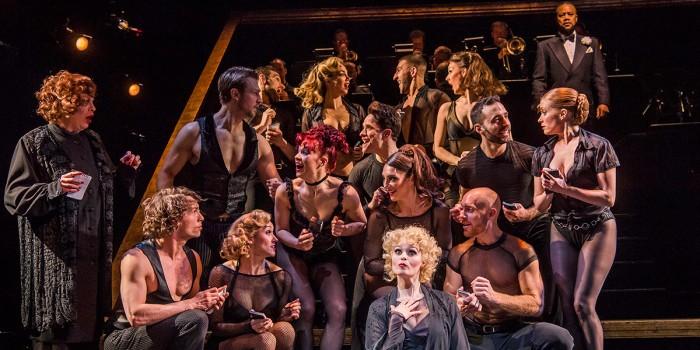 Sarah Soetaert and the cast of Chicago (Photo: Tristram Kenton)