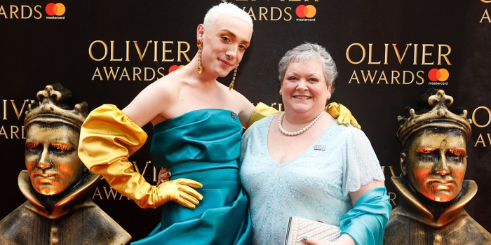 Jamie and Margaret Campbell on the Olivier Awards 2018 with Mastercard red carpet (Photo: Pamela Raith)